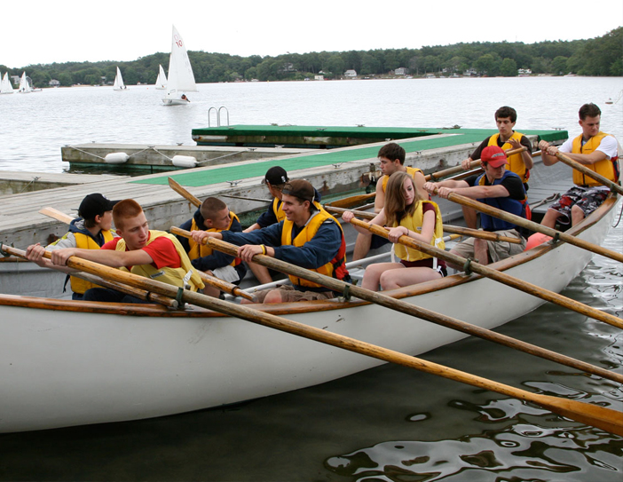 sea cadets in row boat