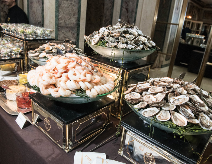 oysters and shellfish at the event