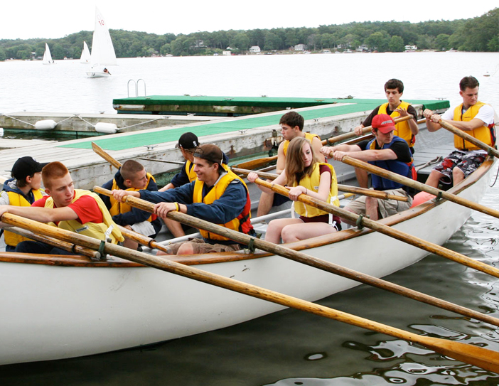 cadets in row boat